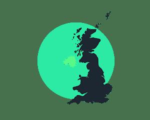 Ireland Map Illustration
